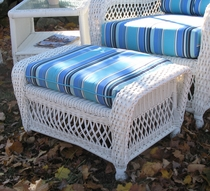 Nantucket Wicker Ottoman Cushion