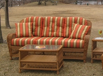 Nantucket Wicker Sofa Replacement Cushions Set