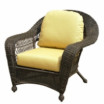 North Cape Wicker Charleston Chair/Rocker Replacement Cushion Set