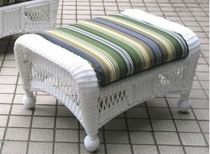 North Cape Wicker Classic Ottoman Cushion