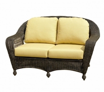 North Cape Wicker Charleston Loveseat Cushion Set