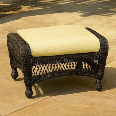North Cape Wicker Charleston Ottoman Cushion