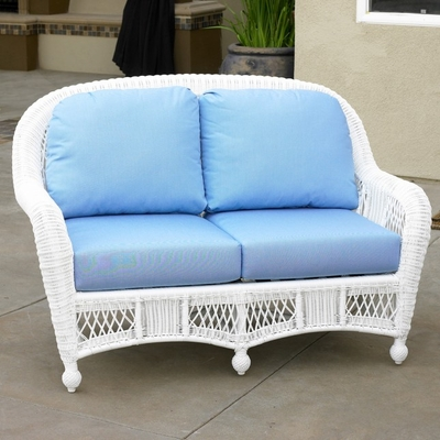 North Cape Wicker St Lucia Loveseat Cushion Set