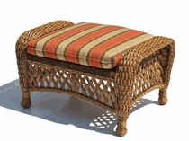 Outdoor Wicker Ottoman Cushion