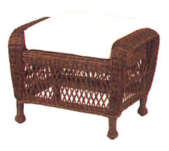 Traditional Wicker Ottoman Cushion