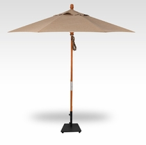 Treasure Garden 9 Foot Teak Umbrella- Quad Pulley Lift