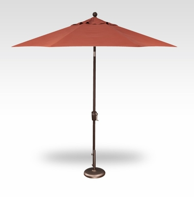 Treasure Garden QUICKSHIP 9 Foot Push Button Tilt Umbrella