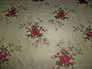 BEACON HILL MATILDA JEAN EMBROIDERED SILK LINEN FABRIC 7 YARDS POMEGRANATE GOLD