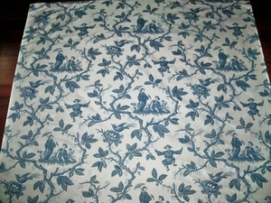 COLEFAX & FOWLER CHINESE TOILE PRINTED SILK FABRIC 10 YARDS