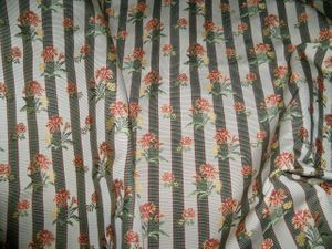 LEE JOFA CAITLIN FLORAL STRIPES DAMASK FABRIC IVY GREEN 10 YARDS