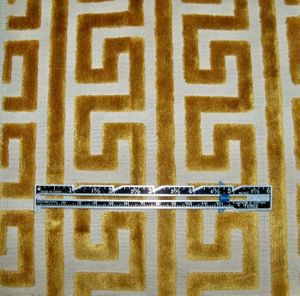 LEE JOFA KRAVET NEOCLASSICAL GREEK KEY GEOMETRIC CUT VELVET FABRIC 8 YARDS