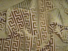 LEE JOFA KRAVET NEOCLASSICAL GREEK KEY GEOMETRIC CUT VELVET FABRIC 9 YARDS
