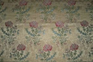 LEE JOFA KRAVET PORTIERE FLORAL BROCADE UPHOLSTERY FABRIC 10 YARDS IN 2 CUTS (8 YARDS + 2.5 YARDS)