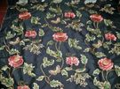 MAGNIFICENT!!...COLEFAX & FOWLER ORIENTAL POPPY EMBROIDERED SILK FABRIC 2 YARDS...CUSTOM COLORWAY!