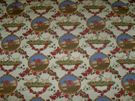 SAMARCAND THE HUNT MEDALLIONS DOGS TOILE FABRIC 10 YARDS CREAM RED GREEN MULTI