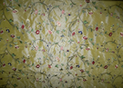 PINDLER & PINDLER SOLIS EMBROIDERED SILK TAFFETA FABRIC 10 YARDS IRIDESCENT GOLDENROD MULTI