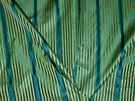 LEE JOFA KRAVET COUTURE EMERALD ISLE SILK STRIPES DAMASK FABRIC 11 YARDS EMERALD SAPPHIRE GOLD
