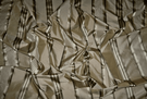 STROHEIM & ROMANN MELROSE SILK SATIN STRIPE FABRIC BEIGE GOLD