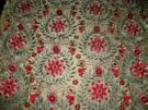 KRAVET COUTURE MULBERRY DIVA EMBROIDERED FLORAL SILK FABRIC 10 YARDS GOLD MULTI
