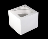 "1250x1251 - 12"" x 12"" x 10"" White/White Lock & Tab Box Set, with Window, 50 COUNT. A33xA09"