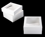 "1718x1251 - 12"" x 12"" x 6"" White/White Lock & Tab Box Set with Window"