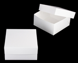 "1718x2639 - 12"" x 12"" x 6"" White/White Lock & Tab Box Set, without Window, 50 COUNT. A17xA11"