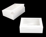 "1854 - 12"" x 9"" x 4"" White/White Lock & Tab Box with Window"