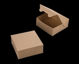 "2367 - 6"" x 6"" x 2 1/2"" Brown/Brown Lock & Tab Box without Window"