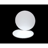2810 - 18 inch White Cake Drum Round, 1/2 inch thick coated corrugated