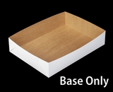 "292 - 19"" x 14"" x 4"" White/Brown Lock & Tab Box Base Only"