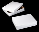 "292x291 - 19"" x 14"" x 4"" White/Brown Lock & Tab Box Set without Window"