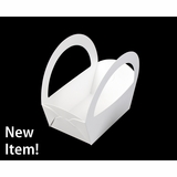 "4066 - 6 3/8"" x 4 5/16"" x2 7/8"" White/White Basket Box, 50 PACK"