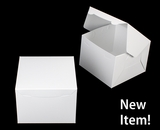 "4086 - 8"" x 8"" x 6"" White/White Lock & Tab Box without window. A27"