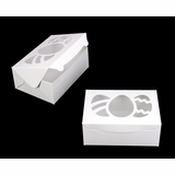 "4120 - 10"" x 7"" x 4"" White/White Easter Egg Window Lock & Tab Box"