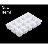 "4197 - 7"" x 4 3/8"" x 7/8"" White 15 Cavity Candy Tray"