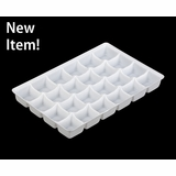 "4199 - 9 1/2"" x 6"" x 15/16"" White 24 Cavity, Candy Tray"