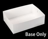 "743 - 19"" x 14"" x 6""  White/White Lock & Tab Base Only, 50 COUNT. A25"