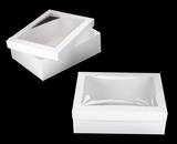 "743x293 - 19"" x 14"" x 6"" White/White Lock & Tab Box Set with Window"