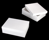 "743x397 - 19"" x 14"" x 6"" White/White Lock & Tab Half Sheet Cake Box Set without Window, 50 COUNT"