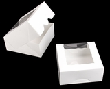 "927 - 9"" x 9"" x 4"" White/White with Window, Timesaver Box With Lid. A24"