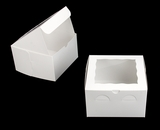 "932 - 8"" x 8"" x 5"" White/White Lock & Tab Box with Window"