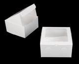 "950 - 9"" x 9"" x 5"" White/White with Window, Lock & Tab Box With Lid. A21"
