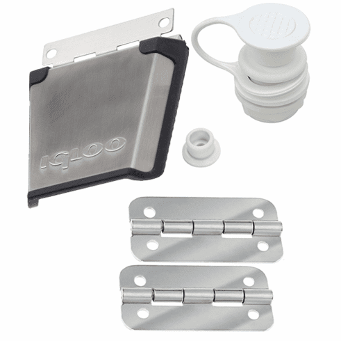 Igloo Stainless Steel Parts Kit (1 ss latch 1 pair ss hinges 1 standard plug)