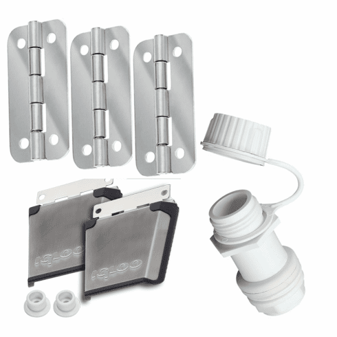 Igloo Stainless Steel Parts Kit 8 (2 ss latches 3 ss hinges & 1 threaded plug)