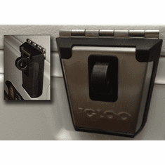 <b>Igloo Locking Stainless Steel Latch</b><br><b>Hazard Warning:</b><br> Latch can automatically lock when  lid is closed posing suffocation hazards.