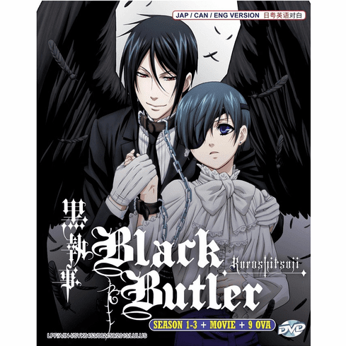 Black Butler Kuroshitsuji Complete Season 1 - 3 + Movie + 9 OVAs English Dub