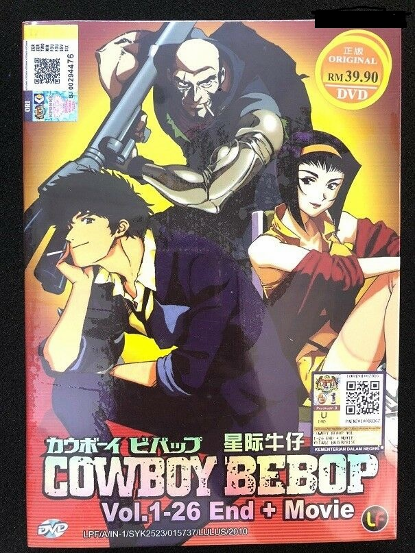 Cowboy Bebop Complete TV Series (1-26 End + Movie) English Audio Dub
