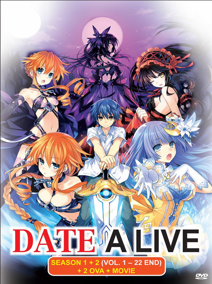 DATE A LIVE Complete Season 1+2 (1-22 end) +2 OVAs & Movie English Dub