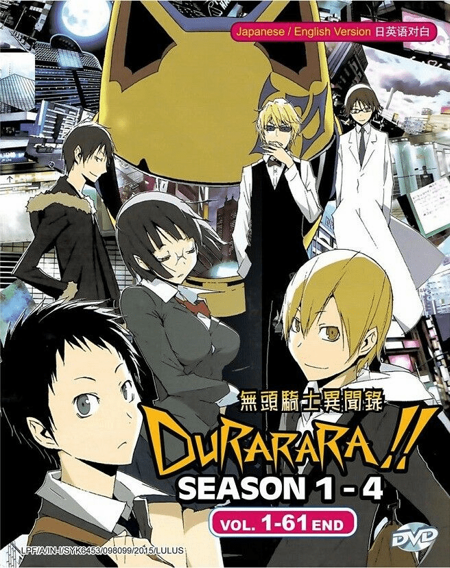DURARARA!! Complete Season 1-4 Boxset (1-61) English Dubbed