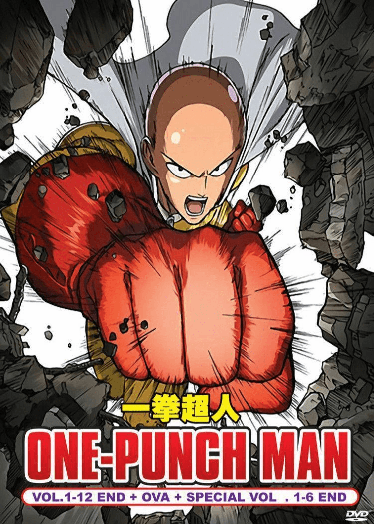 ONE PUNCH MAN Complete Series 1-12 End + OVA + 1-6 Special English Dub